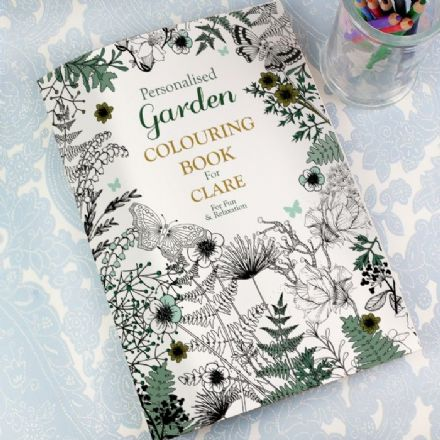 Personalised Garden Colouring Book